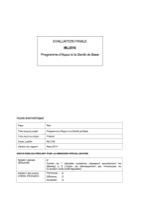 MLI/016 - Programme d'Appui à la Santé de Base